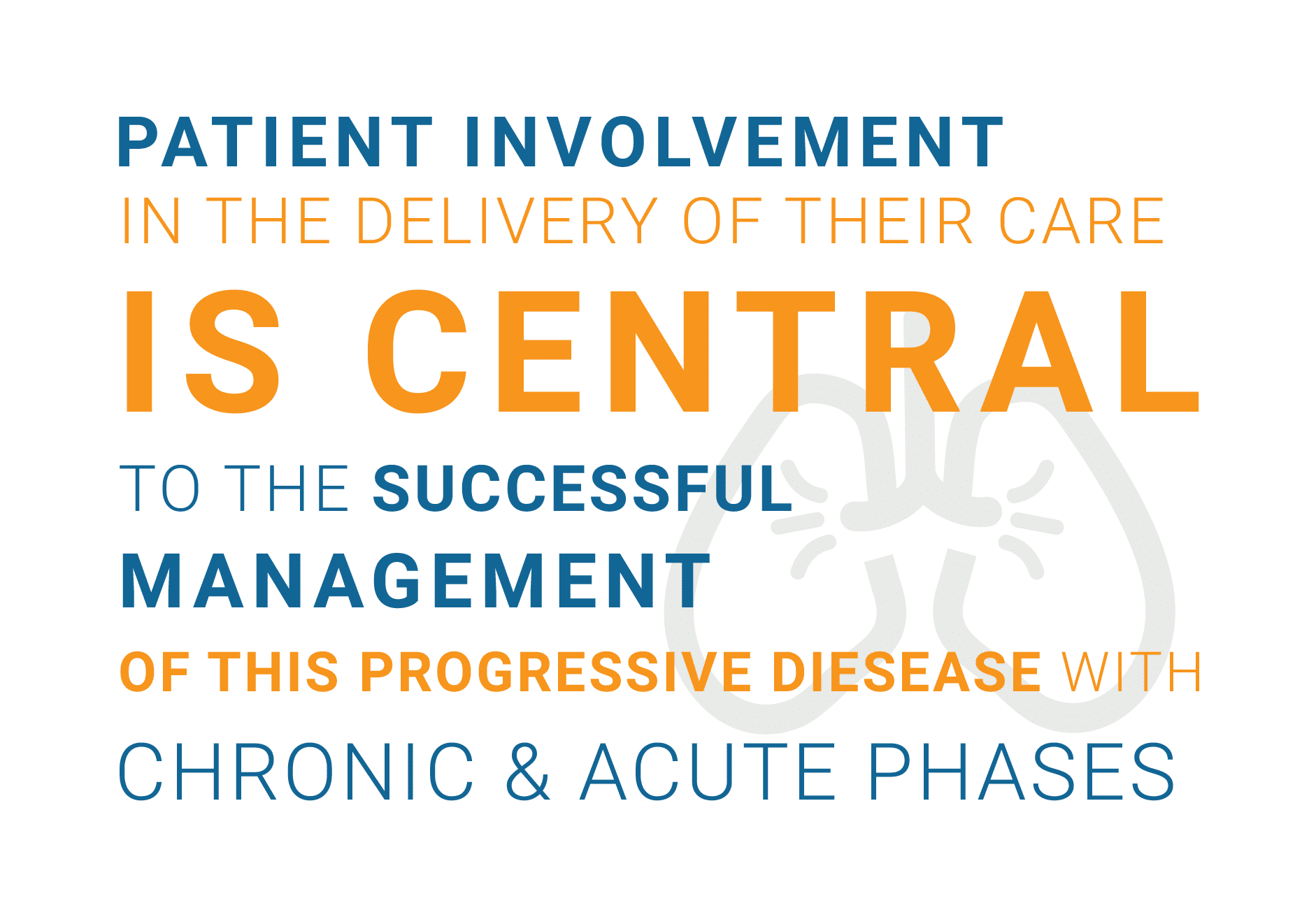 patient involvement, central, successful management, progressive disease, chronic and acute phases.